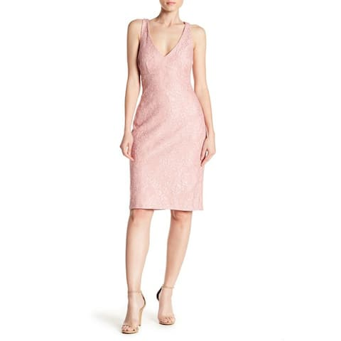 Marina Back Cutout Lace Dress, Blush, 16
