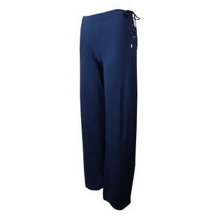 Lauren Ralph Lauren Women's Wide Leg Lace Up Jersey Pants - 3x