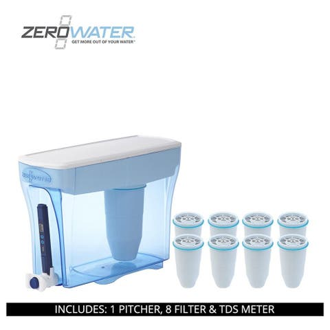 ZeroWater 30 Cup Ready-Pour Dispenser, 9 Filter & TDS Meter, ZD-030RP