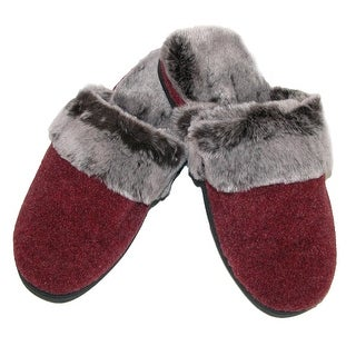 Acorn Women's Faux Chinchilla Support Slippers