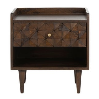 Link to SAFAVIEH Zinnia 1-Drawer 1-Shelf Accent Table Nightstand Similar Items in Bedroom Furniture