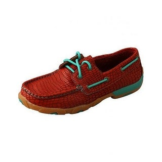 Twisted X Casual Shoes Womens Slip On Lace Driving Mocs Red