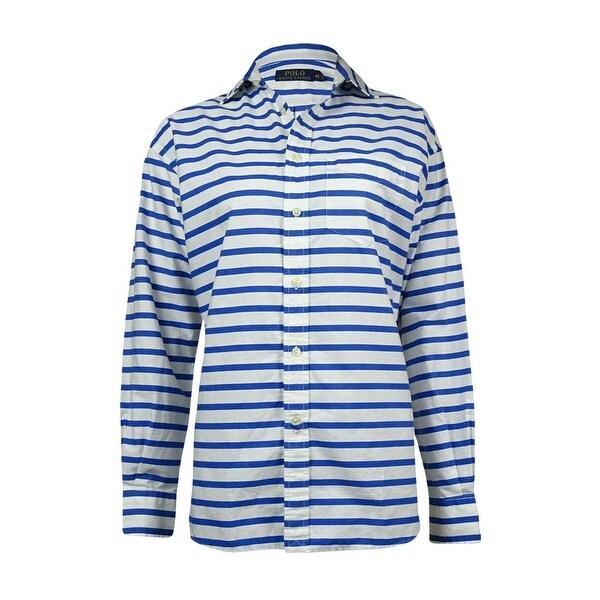 2e10d1e17 Polo Ralph Lauren Men's Horizontal Bengal Dress Shirt - Blue/White