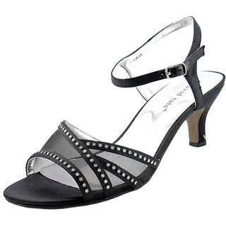 David Tate Violet Women WW Open-Toe Canvas Black Slingback Sandal