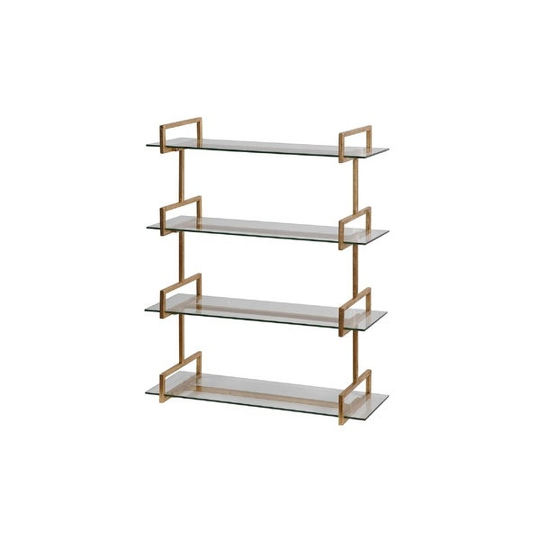 Sensational 40Iron Wall Mounted Shelf With Tempered Glass Shelves N A Home Interior And Landscaping Oversignezvosmurscom