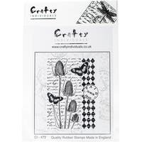 """Crafty Individuals Unmounted Rubber Stamp 4.75""""X7"""" Pkg-Tempting Teasels"""