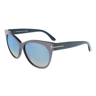 Tom Ford FT0330/S 89X Saskia Light Pink/Blue Stripe Cateye Sunglasses