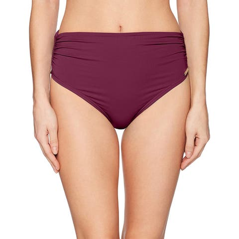Vince Camuto Red Maroon Womens Size Large L Bikini Bottom Swimwear