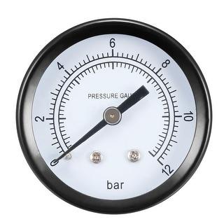 """Pressure Gauge , 0-12 BAR Dual Scale 1.8"""" Dial Display , 1/4"""" NPT"""