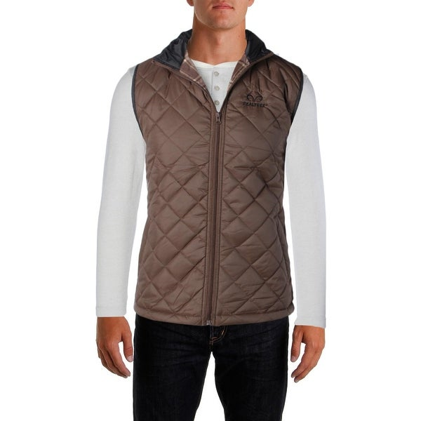 b184f990e6119 Shop Realtree Mens Outerwear Vest Quilted Water Resistant - Free ...
