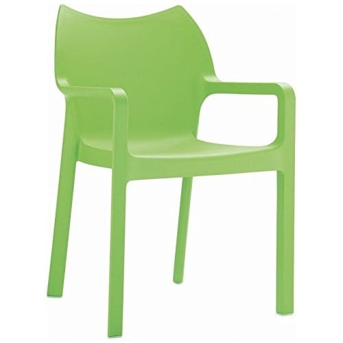 Diva Stackable Armchair [Set of 4] Tropical Green