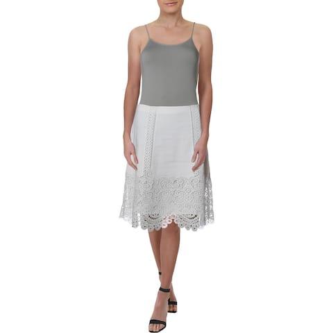 Kobi Halperin Womens Desi Mini Skirt Lace-Trim A-Line - S