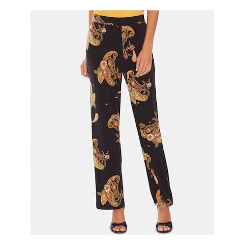 VINCE CAMUTO Womens Black Paisley Flare Cocktail Pants Size S