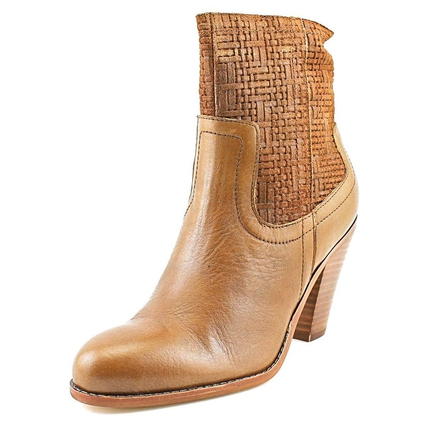 Corso Como Harvest Women Round Toe Leather Brown Ankle Boot