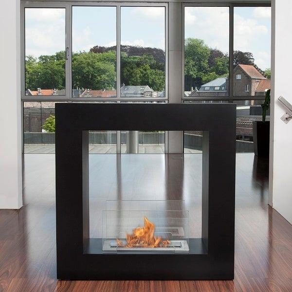 Bio-Blaze Black Qube Bio-Ethanol Fireplace - Small