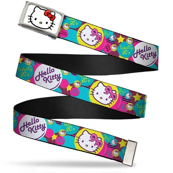 Hello Kitty Face Fcg White Chrome Totally 80'S Hello Kitty Bubbles Web Belt