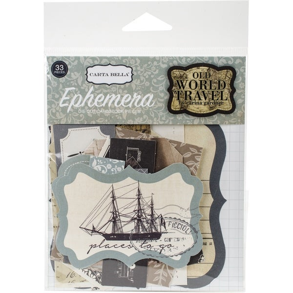 Old World Travel Ephemera Cardstock Die-Cuts-