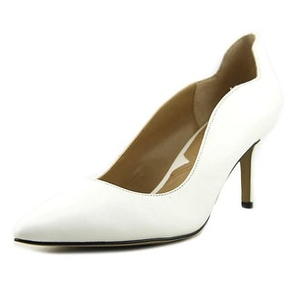 Adrienne Vittadini Fanie Women Pointed Toe Synthetic White Heels