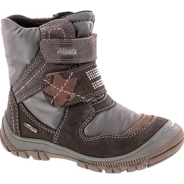 Primigi Girls 8173 Gore Tex Waterproof Winter Fashion Boots - grey atracite