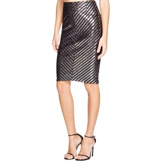 Minkpink Womens Pencil Skirt Metallic Striped
