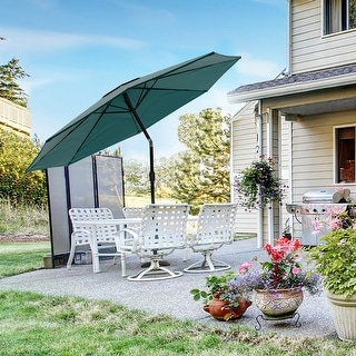 Link to Boynton 10-foot Patio Umbrella with Solar Powered LED Lights by Havenside Home Similar Items in Home Theater