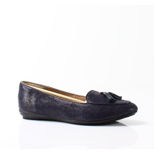 Sofft NEW Navy Blue Women's Shoes Size 6M Bryce Wedge Loafers