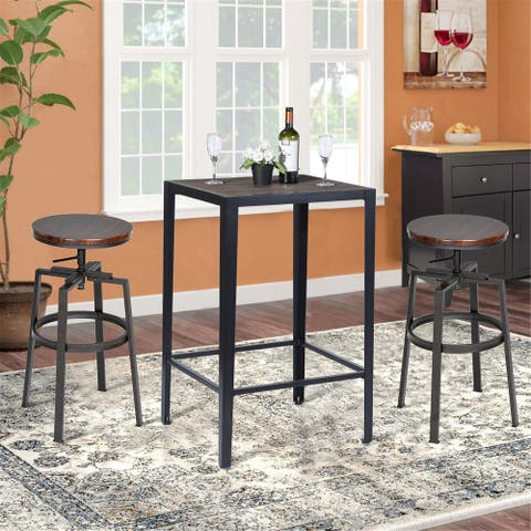 Carbon Loft Puckering Square Top Indoor Pub Side Table
