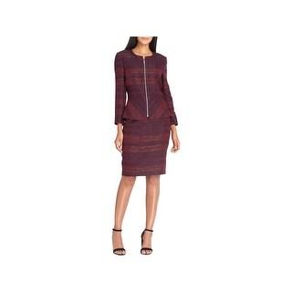 Tahari ASL Womens Skirt Suit Textured Professional