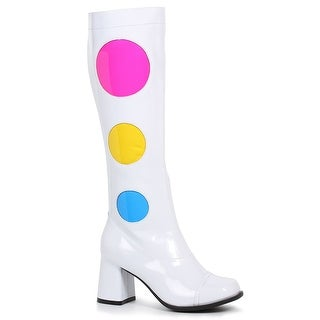 Link to Womens White Knee High Dotty 60s Go Go Boots Similar Items in Pretend Play