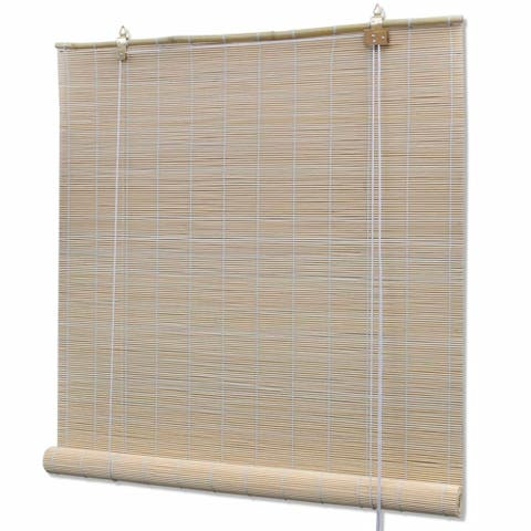 "vidaXL Natural Bamboo Roller Blinds 47.2"" x 63"""