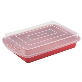 SilverStone 51380 51380 9x13 in. - 23x33cm covered cake pan - red
