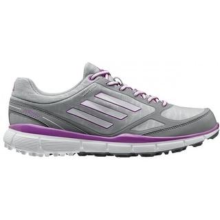 Adidas Women's Adizero Sport III Clear Onix/White/Flash Pink Golf Shoes Q46906
