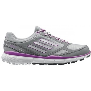 Adidas Women's Adizero Sport III Clear Onix/White/Flash Pink Golf Shoes Q46906