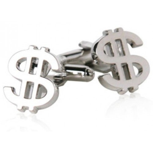 Dollar Sign Money Economics Cufflinks