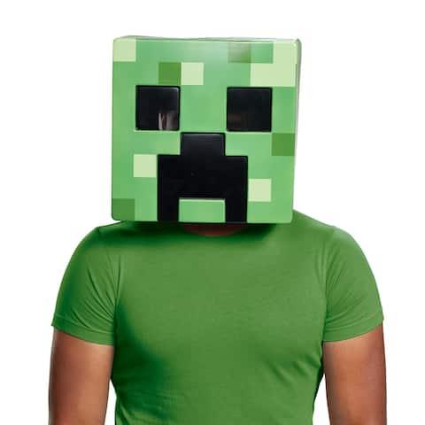 Adult Minecraft Creeper Vacuform Halloween Mask - Standard - One Size
