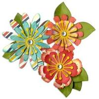 Mix & Match Flowers - Sizzix Thinlits Dies 10/Pkg