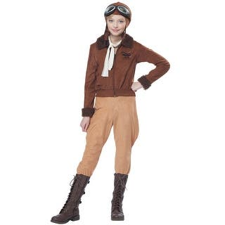 California Costumes Amelia Earhart Child Costume - Brown|https://ak1.ostkcdn.com/images/products/is/images/direct/126f4cce983ede1b1b931de80b20f382628de724/Amelia-Earhart-Child-Costume.jpg?impolicy=medium