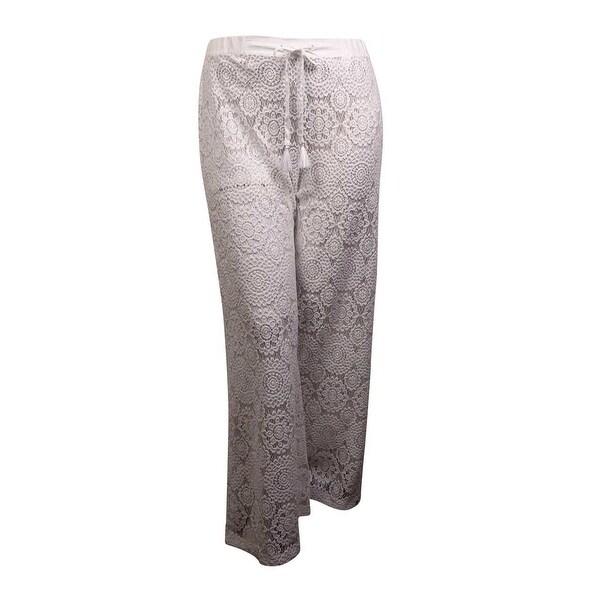 fcc89a6e6b Shop MICHAEL Michael Kors Women's Crochet Lace Pant Swim Cover (XS, White)  - White - XS - Free Shipping Today - Overstock - 15094070