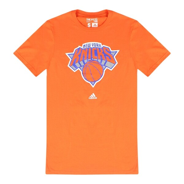 885efa97 Shop Adidas NBA New York Knicks Men's Orange T-Shirt White Performance Logo  - Free Shipping On Orders Over $45 - Overstock - 17066814