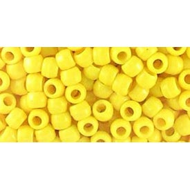 Opaque Lemon - Pony Beads 6Mmx9mm 1;000/Pkg