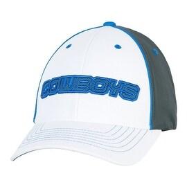 Dallas Cowboys White Carbon Fiber Flex Fit Cap S/M
