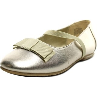 Balleto by Jumping Jacks Samantha Youth Round Toe Leather Gold Mary Janes