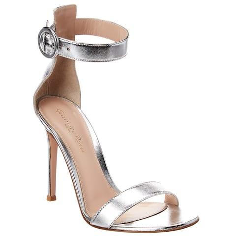 Gianvito Rossi Portofino 105 Metallic Leather Sandal