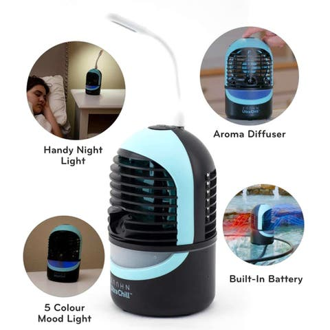 Zaahn Ultra Chill Personal Cooler and Humidifier Deluxe Night Light