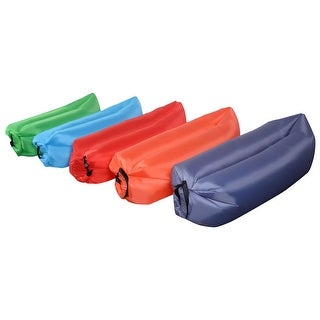 Outdoor Portable Lazy Inflatable Sleeping Camping Bed Red