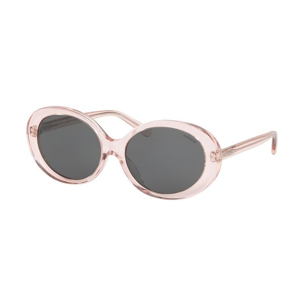 Coach HC8270U 555687 55 Transparent Pink Woman Oval Sunglasses. Opens flyout.