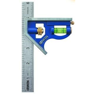 "Irwin 1794468 Metal Combination Square, 6"", Blue"
