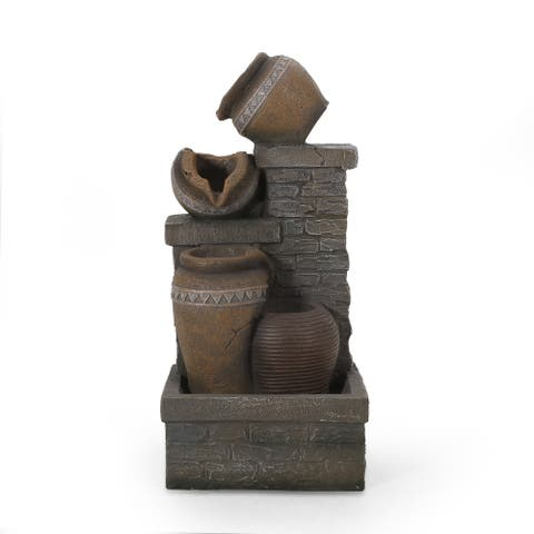 Bowery Outdoor Tier Jar Fountain Outdoor 3 by Christopher Knight Home