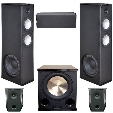 Premier Acoustic 5.1 Home Theater System Bundle with 2 PA-8.12 Towers, 2 PA-8S Surrounds, and 1 PA-8C Center, 1 BIC/Acoustech PL