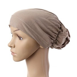 Muslim Scarf Kerchief Hat Flower Casual khaki